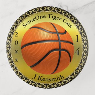 Personalized Basketball Champions League design Trinket Trays