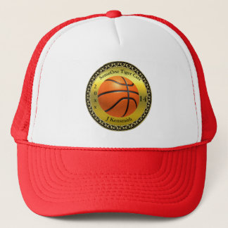 Personalized Basketball Champions League design Trucker Hat