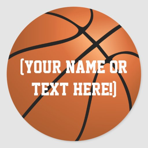 Personalized Basketball Circle stickers