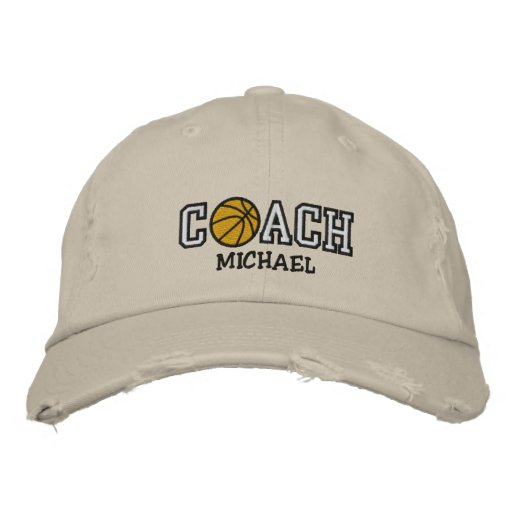 Personalized Basketball Coach Embroidered Hat