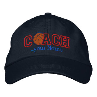 Personalized Basketball Coach for your name Embroidered Baseball Caps