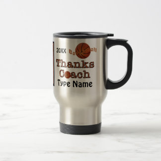 Personalized Basketball Coach Gift Ideas Men Women Travel Mug