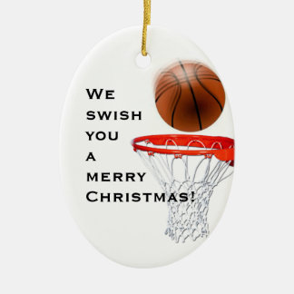 Personalized Basketball Collectible Ceramic Oval Decoration