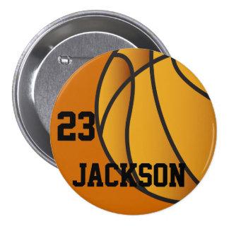 Personalized Basketball Design 7.5 Cm Round Badge
