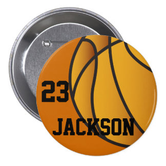 Personalized Basketball Design Button