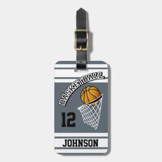 Personalized Basketball DIY Color Bag Tag