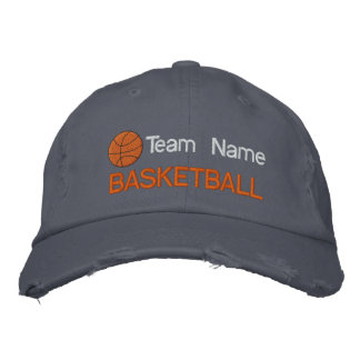 Personalized Basketball Embroidered Hat