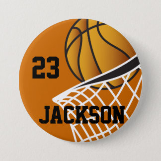 Personalized Basketball Hoop Design 7.5 Cm Round Badge