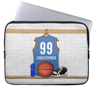 Personalized Basketball Jersey (LB) Laptop Sleeve