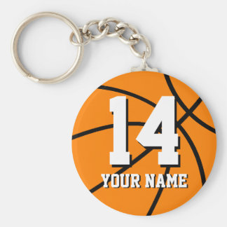 Personalized basketball keychain name and number