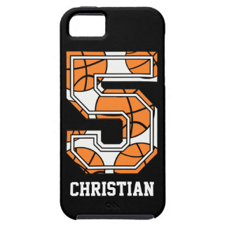 Personalized Basketball Number 5 iPhone 5 Case
