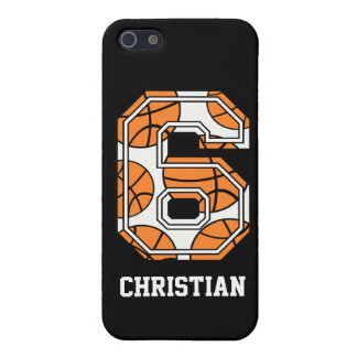 Personalized Basketball Number 6 iPhone 5 Cover
