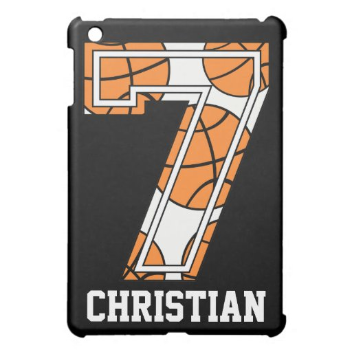 Personalized Basketball Number 7 iPad Mini Cover