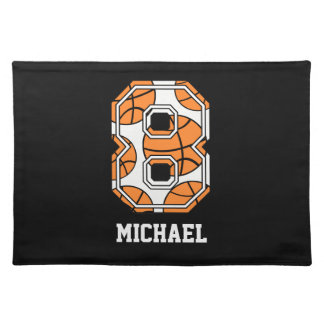 Personalized Basketball Number 8 Placemat