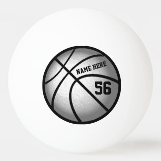 Personalized Basketball Ping Pong Balls Your Text