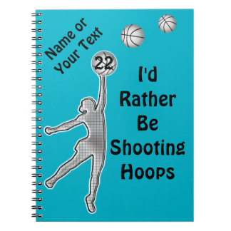 Personalized Basketball Team Gift Ideas for Girls Notebooks