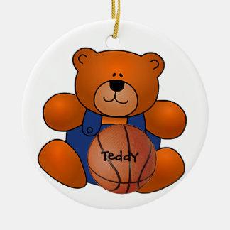 Personalized Basketball Teddy Bear Ornament