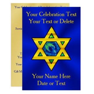 Personalized Bat Mitzvah, Bar Mitzvah Invitations
