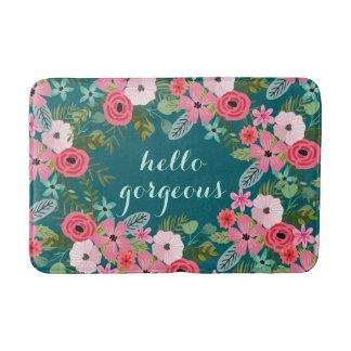 Personalized bath mat Hello Gorgeous
