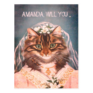Personalized  be my bridesmaid postcard