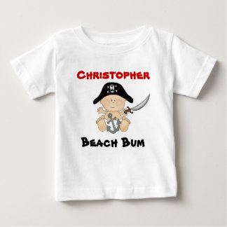Personalized Beach Bum Baby Pirate Tee ~ Boys