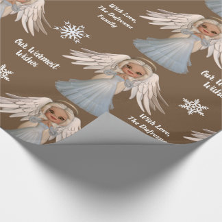 Personalized Beautiful Angel Wrapping Paper