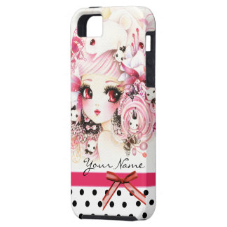 Personalized - Beautiful anime girl with bunnies iPhone 5 Cover