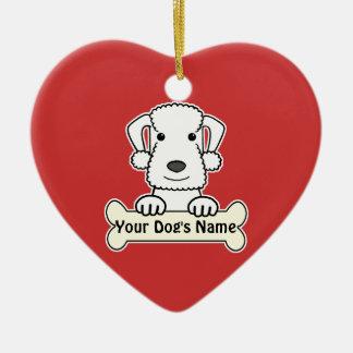 Personalized Bedlington Terrier Ceramic Ornament