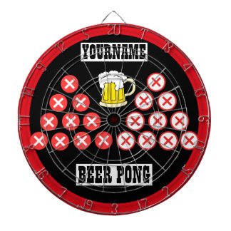 Personalized Beer Pong Dartboard