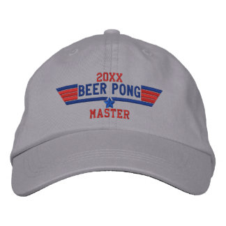 Personalized Beer Pong Master Swag on a Embroidered Hat