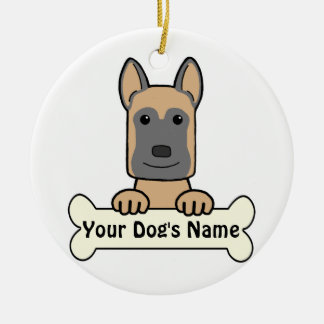 Personalized Belgian Malinois Ceramic Ornament