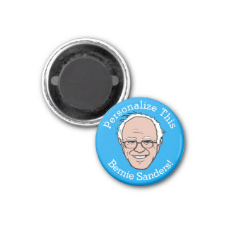 PERSONALIZED Bernie Sanders Cartoon Face 3 Cm Round Magnet
