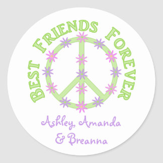 Personalized Best Friends Forever Stickers