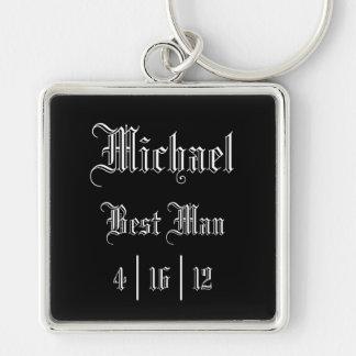 Personalized Best Man Keychain