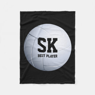 Personalized Best Player | Volleyball Pattern Fleece Blanket