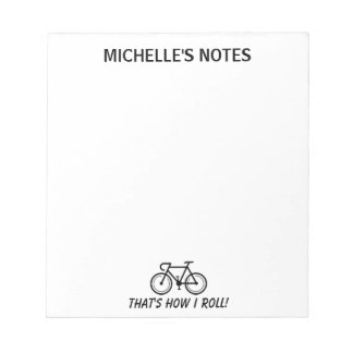 Personalized bicycle template memo writing notepad