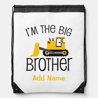 Personalized Big Brother Construction Front Loader Backpack