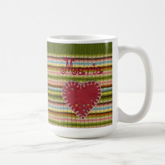 Personalized Big Classic Mug with Knitted Pattern