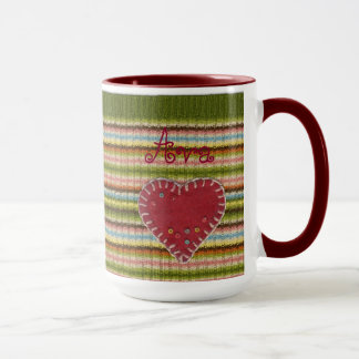 Personalized Big Combo Mug with Knitted Pattern