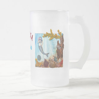 "Personalized Big Frosted Mug ""Mermaids are Real"""