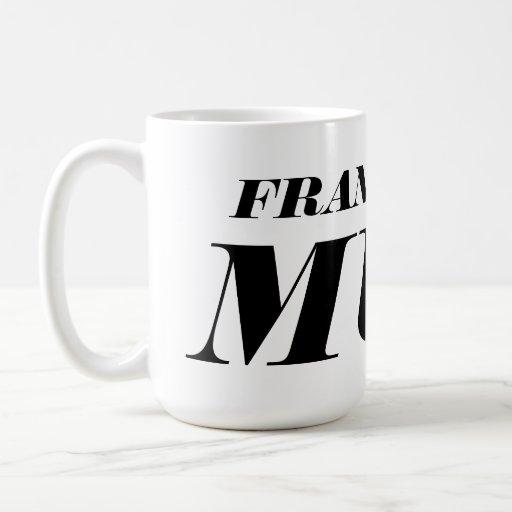 Personalized big giant jumbo XL coffee mug