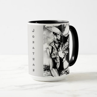 "Personalized Big Mugs ""Fine Art Cowboy & Country"""