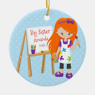 Personalized Big Sister Artist Christmas Ornament