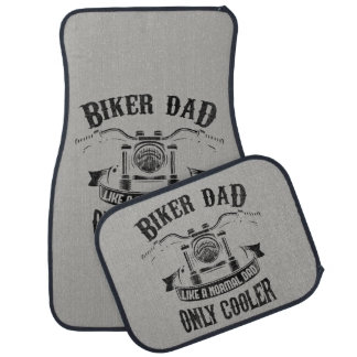 Personalized Biker Dad Like Normal Dad Only Cooler Car Mat