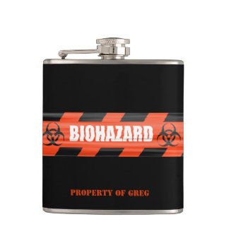 Personalized Biohazard Flask