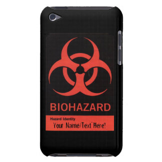 Personalized BioHazard Warning iPod Case