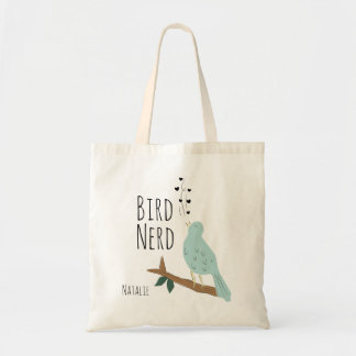 Personalized Bird Nerd Tote