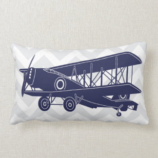 Personalized Birth Details Airplanes Lumbar Pillow