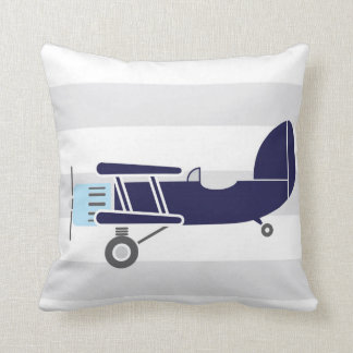 Personalized Birth Details Airplanes Pillow
