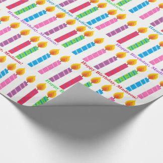 Personalized Birthday Candles Wrapping Paper